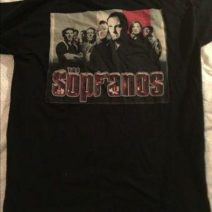 vintage sopranos t shirt HBO 90s